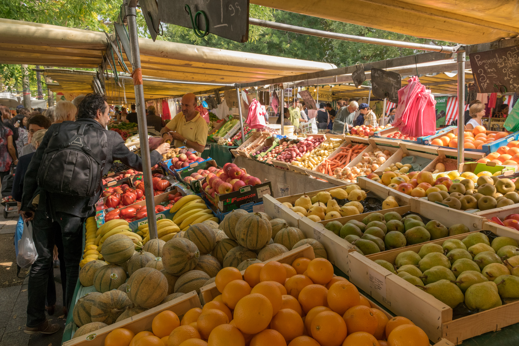 Yet another stall of fruit and vegetables