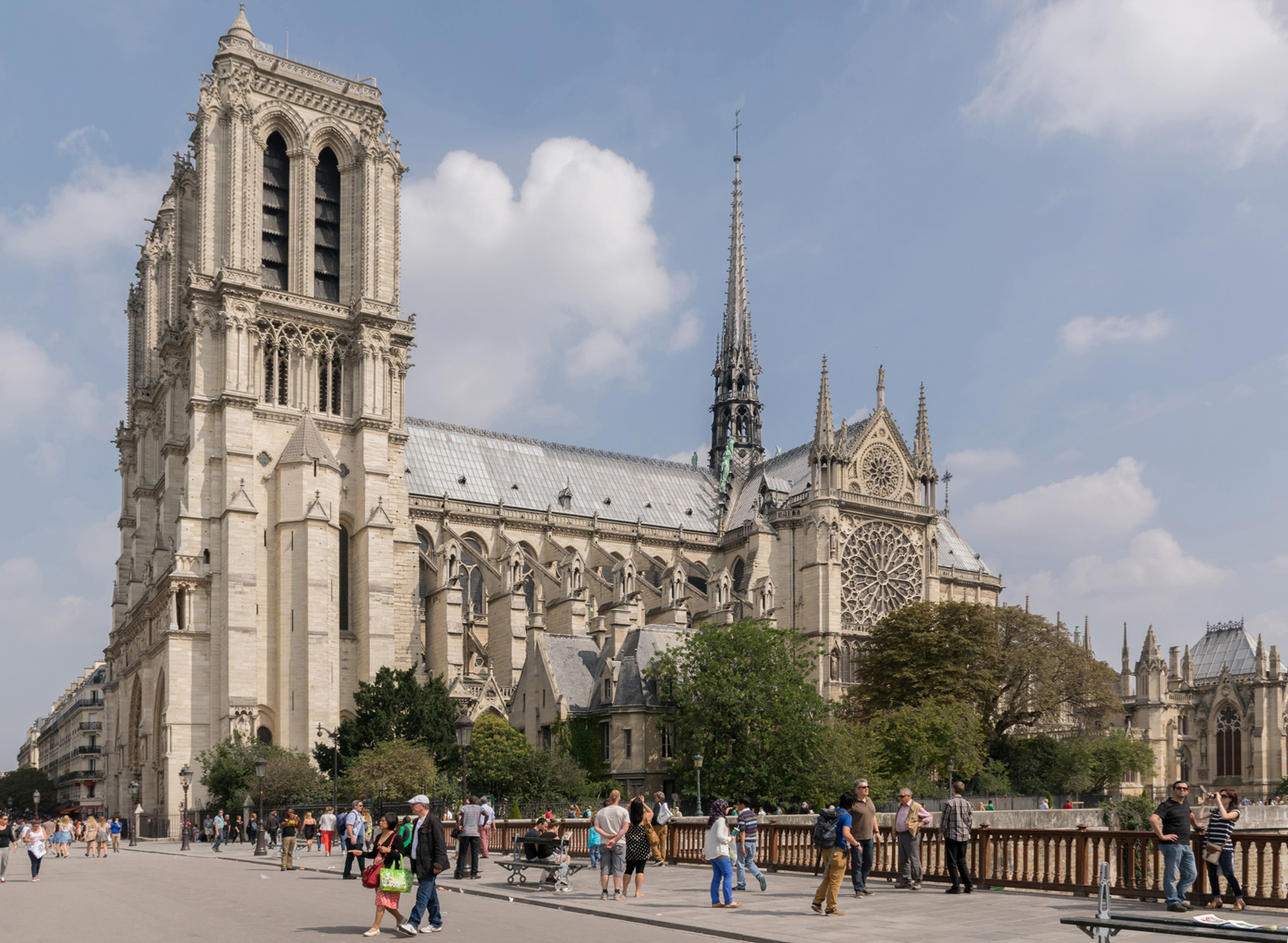 Notre Dame de Paris also known as Notre-Dame Cathedral or simply Notre-Dame