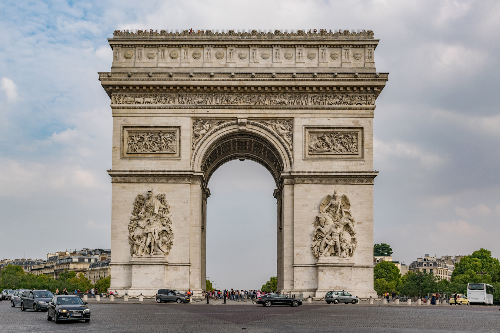The Arc de Triomphe de l'Étoile