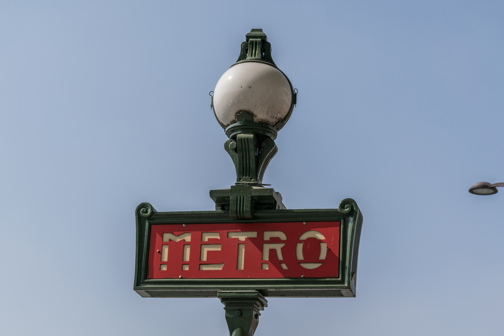 Signage for the Métro generally reflects the history of the locationThere are 16 lines of the <a href=