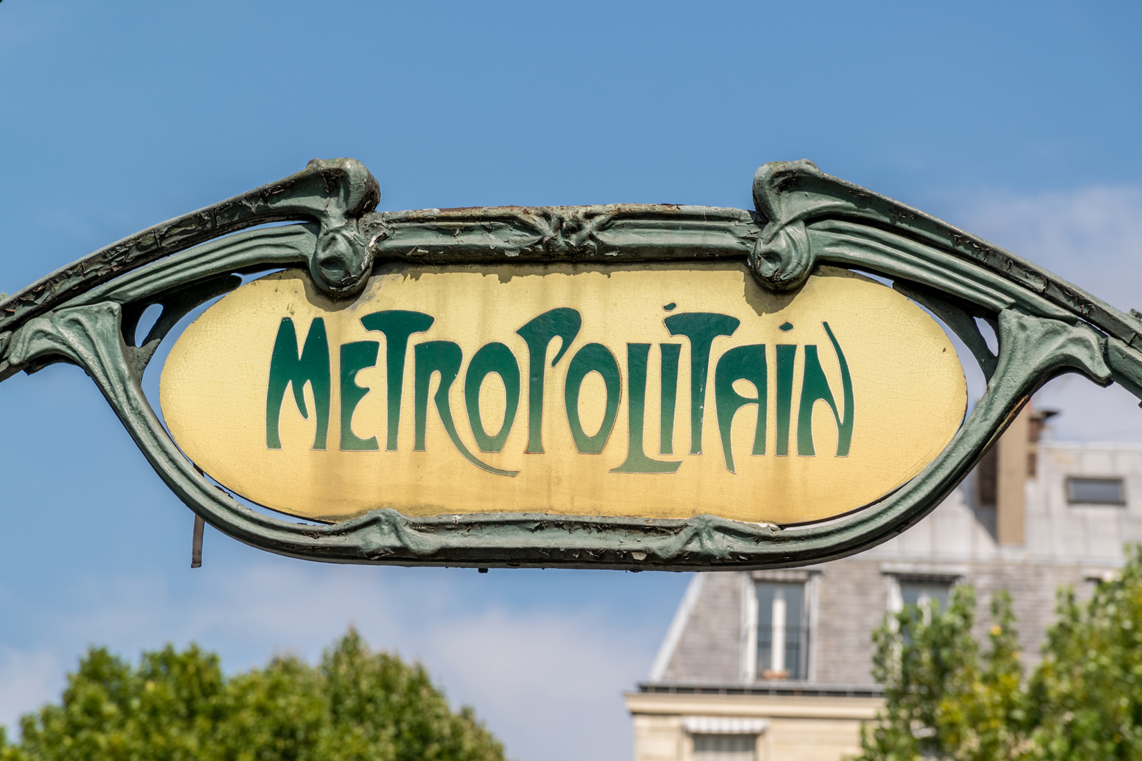 A symbol of the city, the Paris Métro was influenced by Art Nouveau