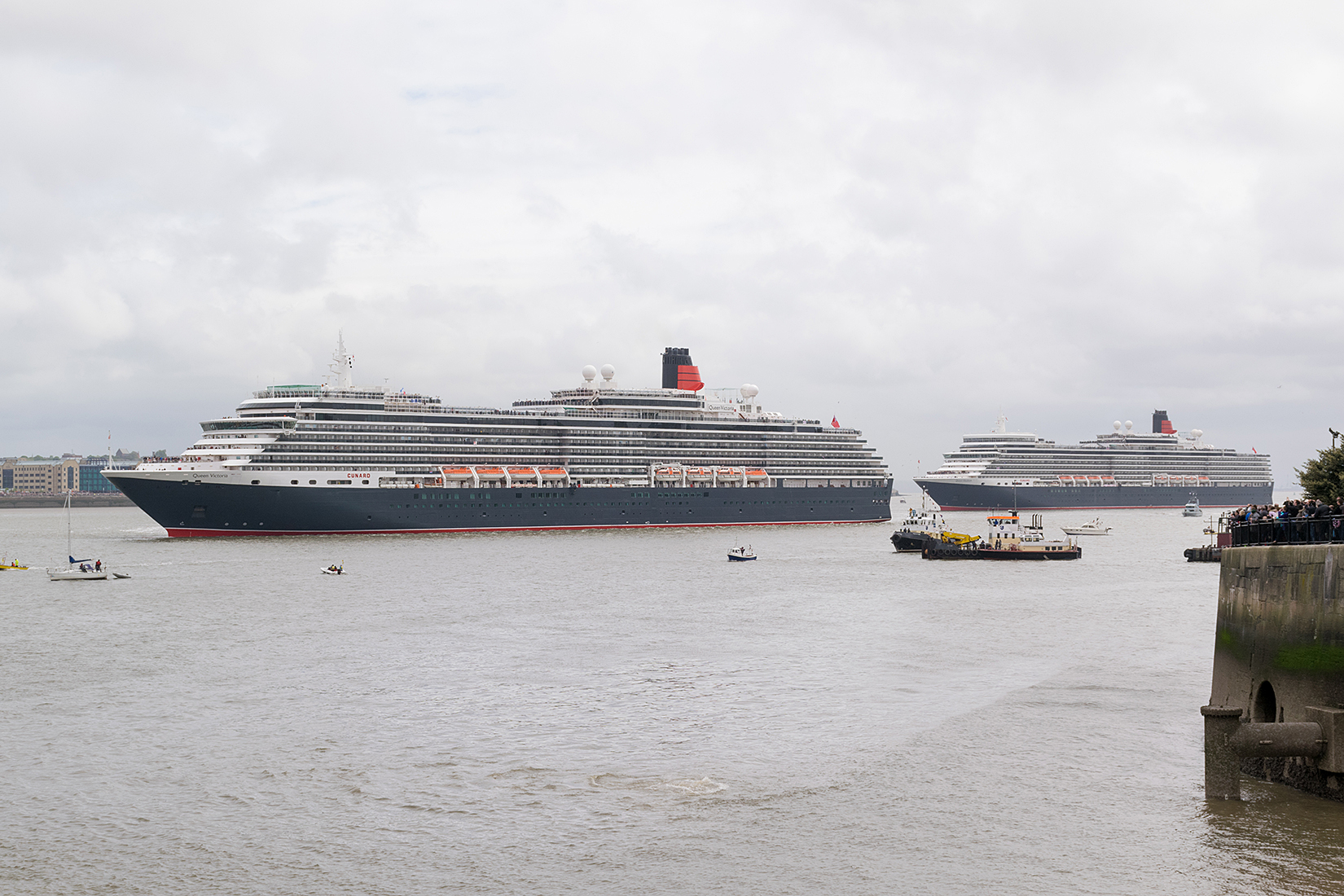 Manouvers completed Queen Victoria and Queen Elizabeth move forward