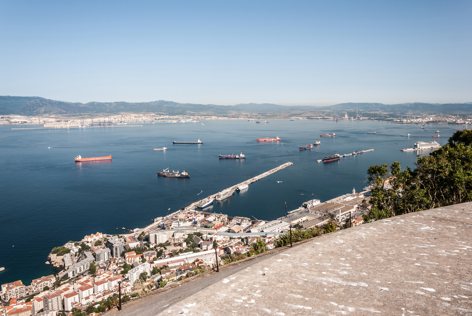 The Bay of Gibraltar and the harbour