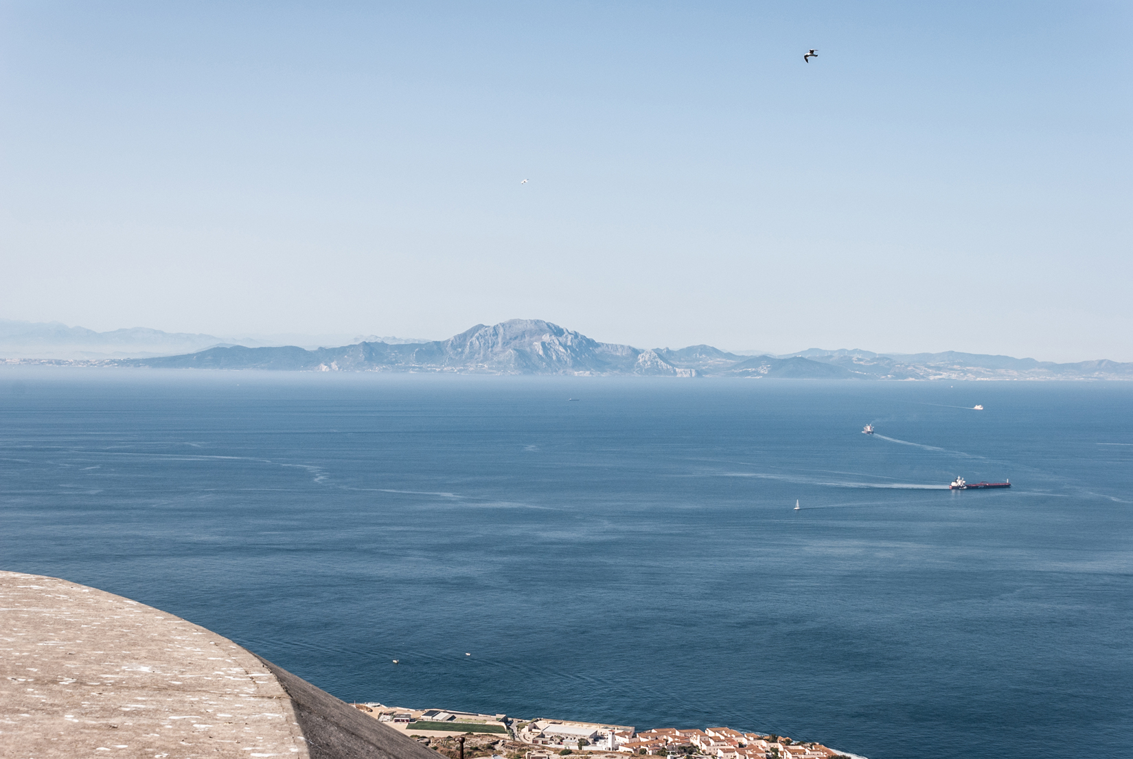 Across the water is the Spanish city of Ceuta which shares a western border with Morocco, North Africa