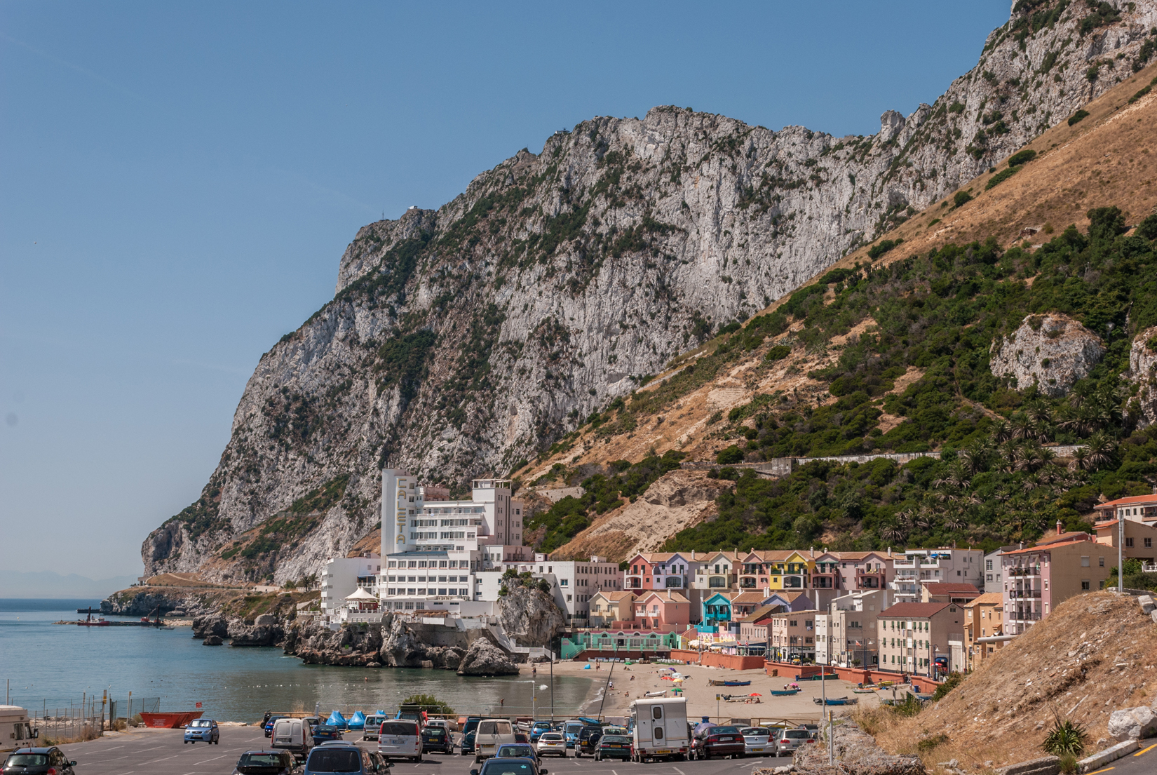 Catalan Bay and the Caleta Hotel on the east side of Gibraltar