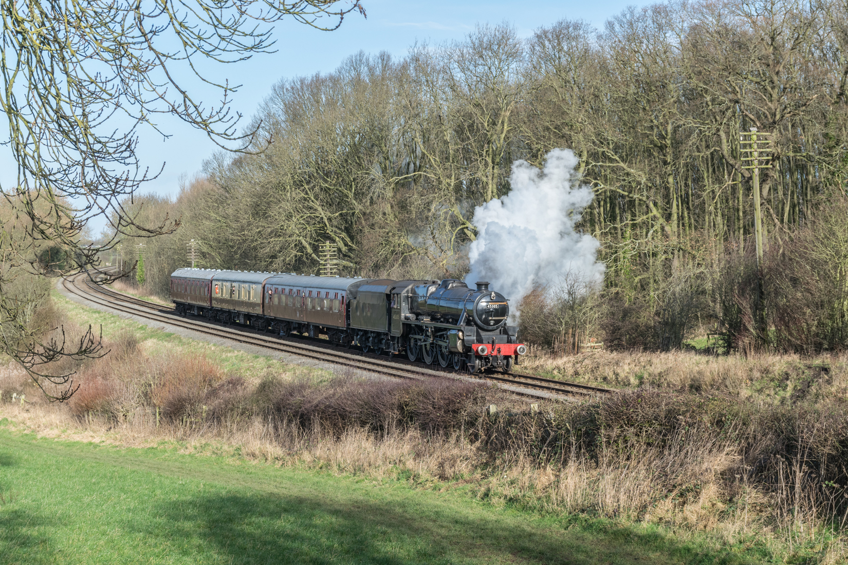 LMS Stanier Class 5 no 45305 at Kinchley Lane