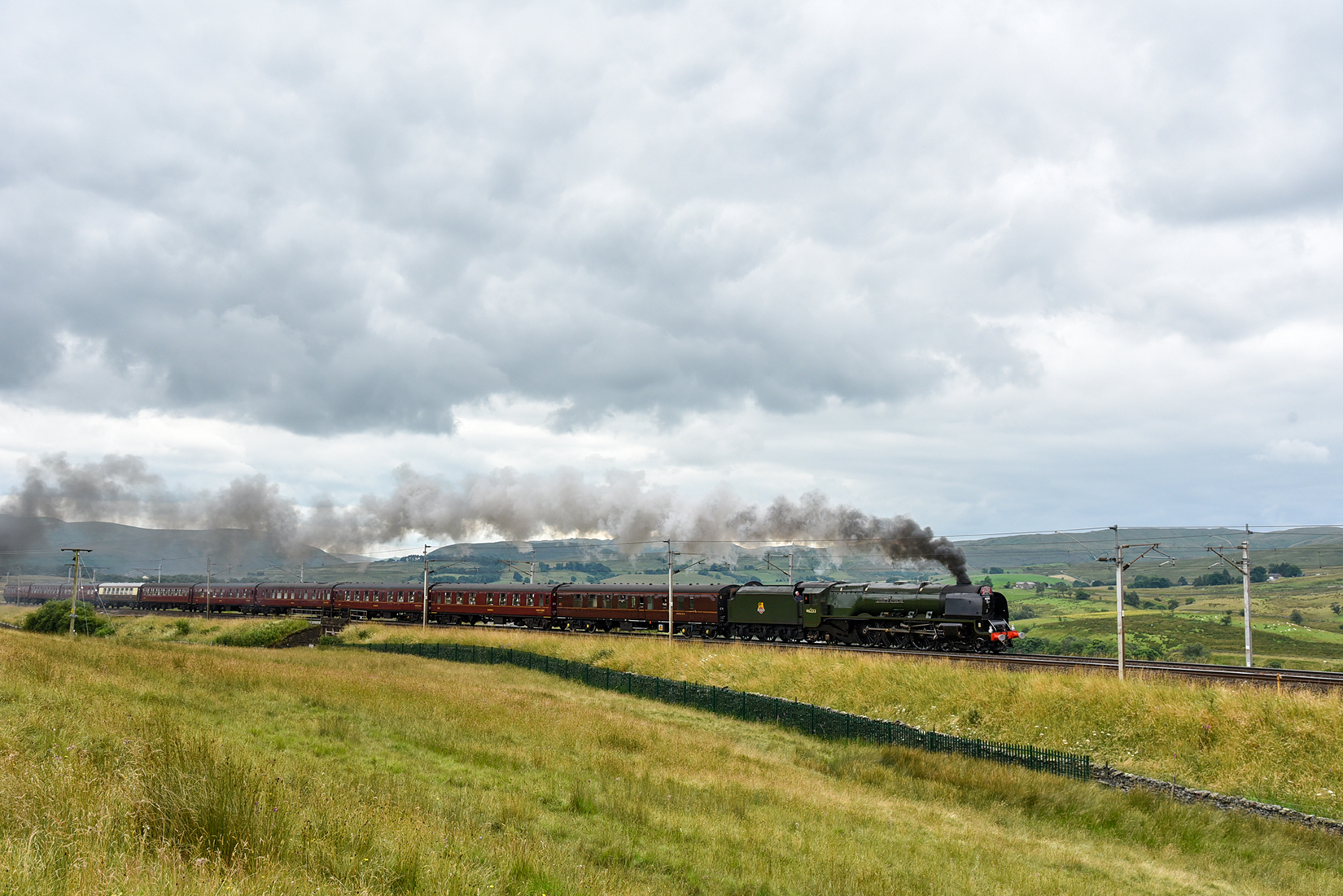 Coronation Class 'Duchess of Sutherland' passing Scout Green