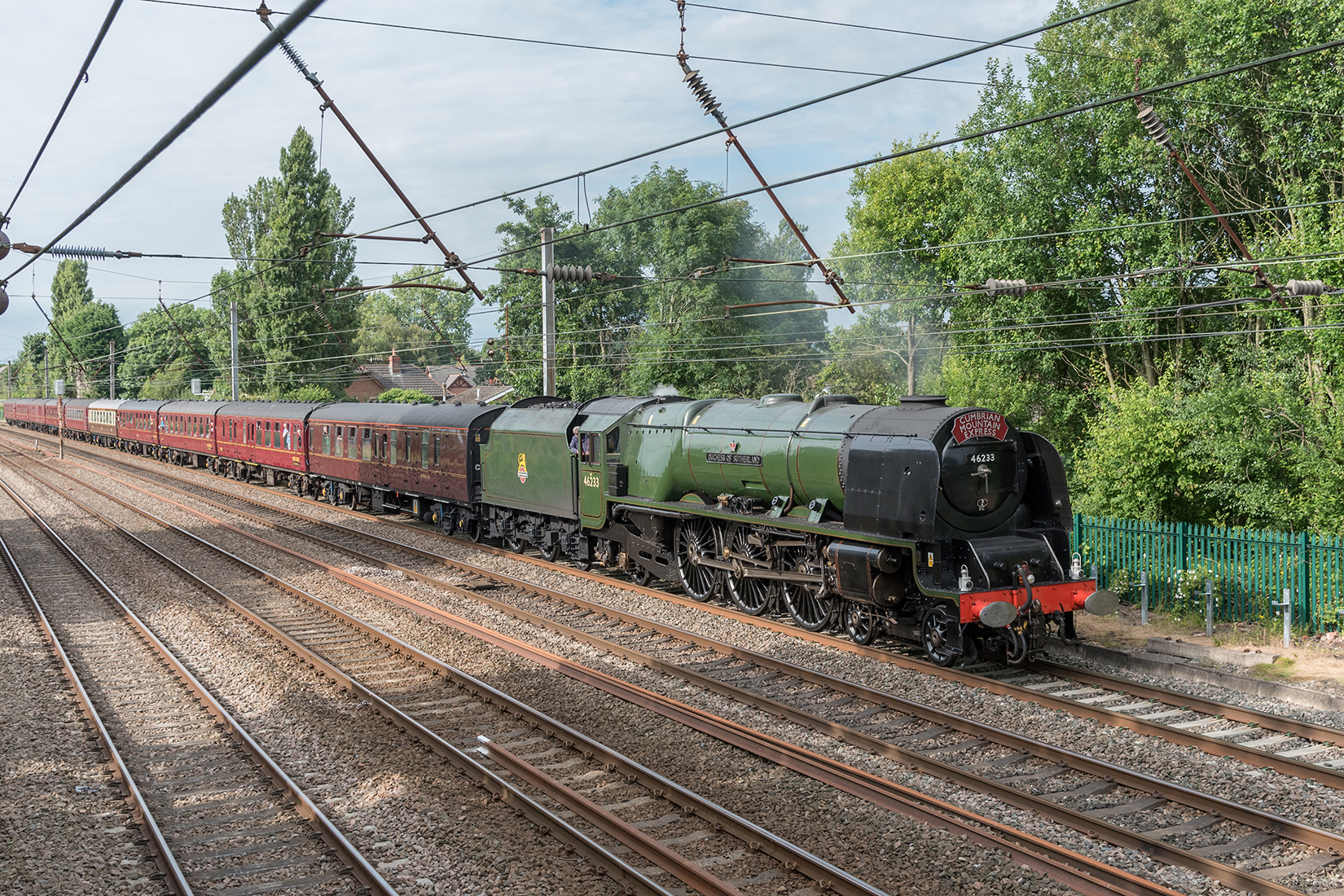 'Duchess of Sutherland' passing Euxton