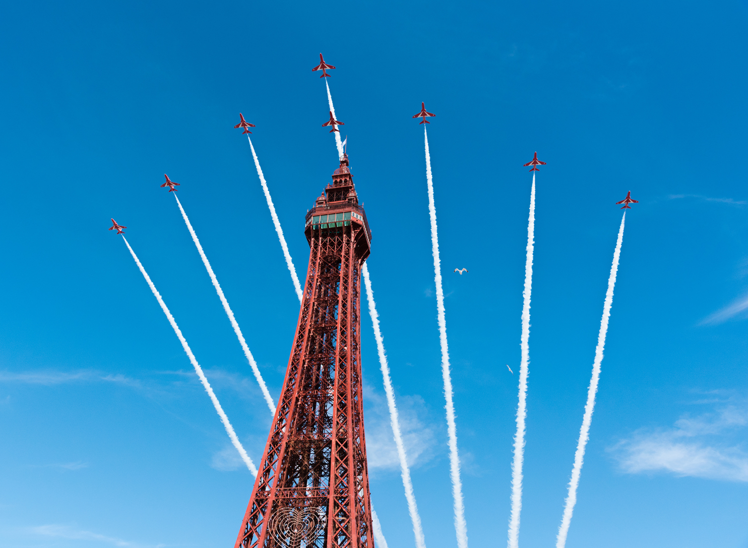 The Red Arrows arrive in Blackpool