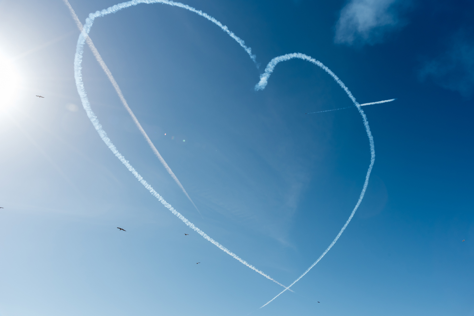 The Red Arrows' Heart and Spear display