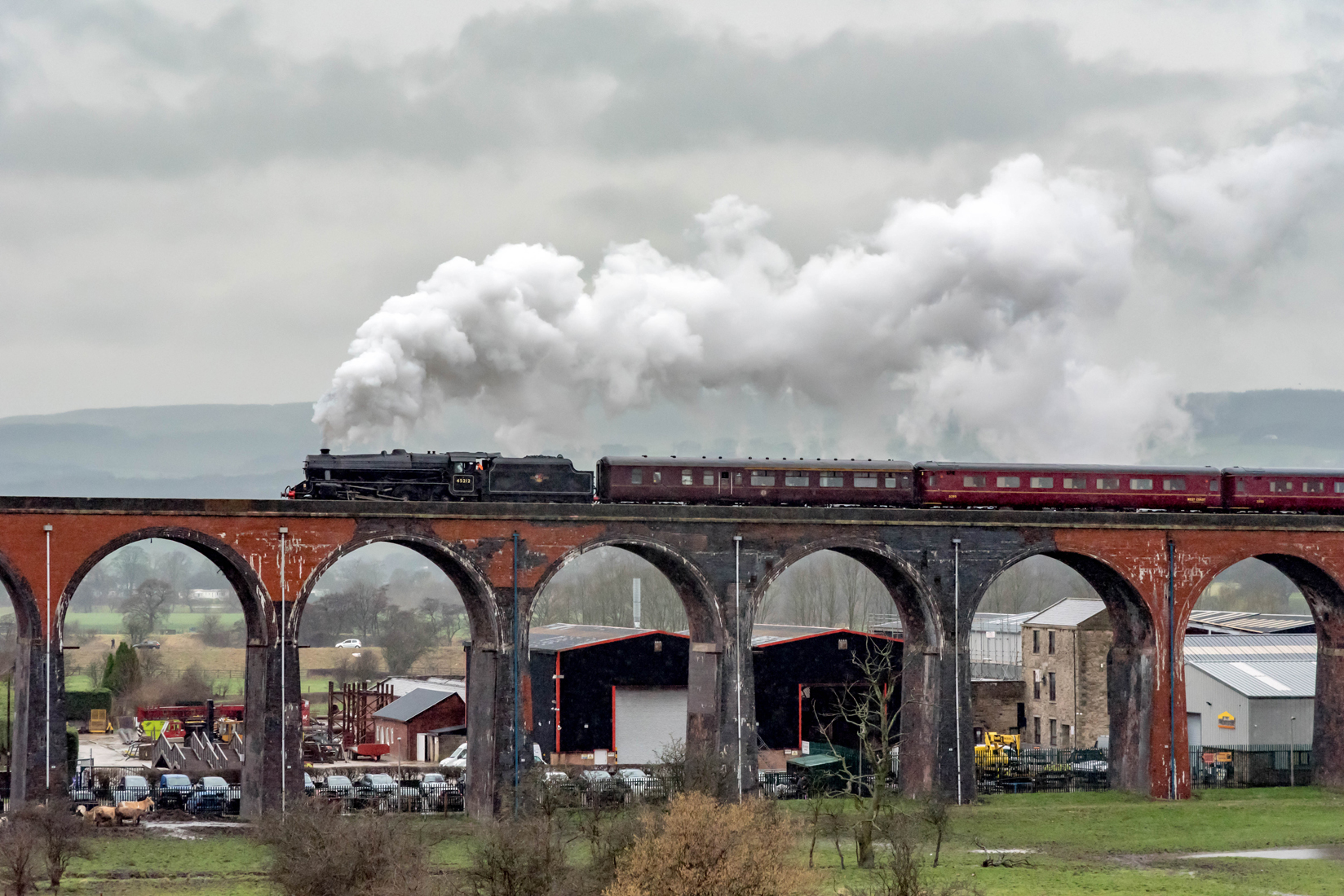 45212 on Whalley Viaduct