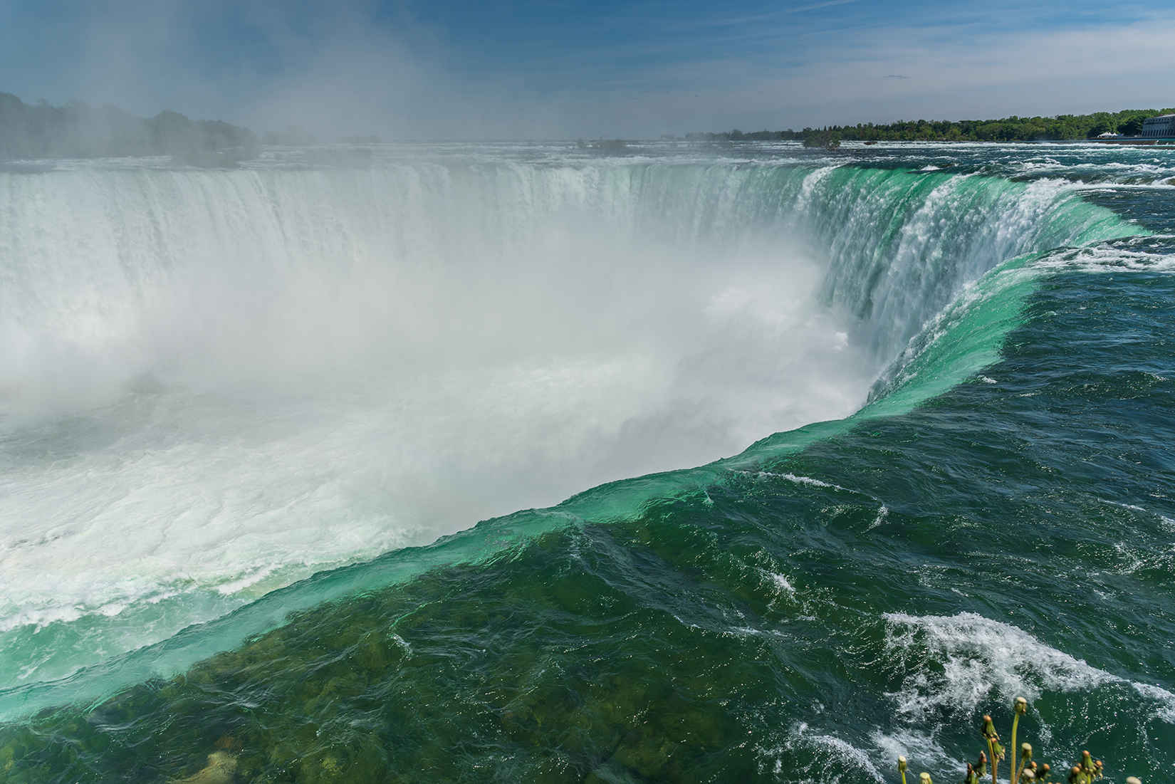 The Niagara Falls viewpoint within feet of the Horseshoe Falls.