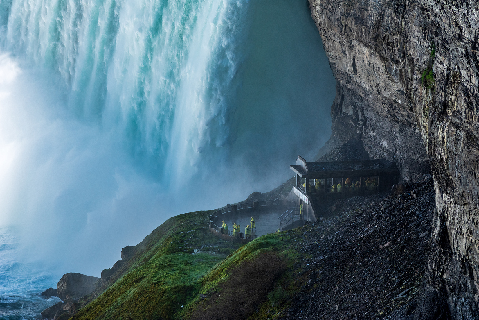 Journey Behind the Falls observation platform and series of tunnels near the bottom of the Horseshoe Falls